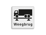 Verkeersbord RVV OBD08 - Weegbrug