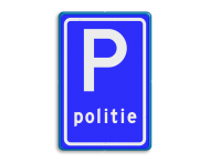 Verkeersbord RVV E08l - Parkeerplaats politie