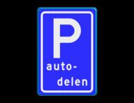 Verkeersbord RVV E08r - Parkeerplaats autodelen