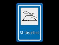 Verkeersbord RVV L306b - Stiltegebied