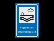 Verkeersbord RVV L307b - Regenwaterinfiltratiegebied