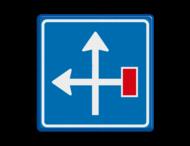 Verkeersbord RVV L09-4l - Doodlopende weg - voorwaarschuwing
