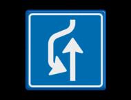 Verkeersbord RVV L21 - uitwijkplaats links