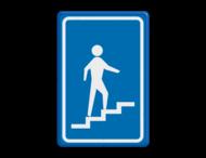 Verkeersbord RVV L301ro - Trap naar beneden