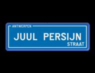 Straatnaambord België 600x200