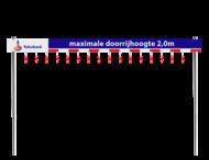 Doorrijhoogteportaal TS - met alu ligger 200mm - verzwaard profiel met opdruk in huisstijl