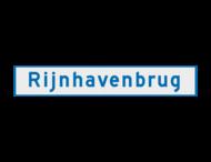 Scheepvaartbord BPR H. 2. 4 - Naamgeving vaarwater of object