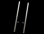 Montagerahmen TS3 - gebürstetes Aluminium - 2er-Set