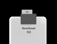 Basis verkeersbord dubbel omgezette rand - type 3:2 - rechthoek
