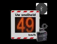 Snelheidsdisplay LED voor roulerend gebruik + front reflecterend in huisstijl