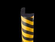 Randbescherming geel/zwart - hoek 30x30mm - zelfklevend of magnetisch