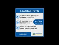 Informatiebord Laadtarieven - HustPlugin