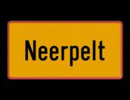 Gemeentegrensbord België - zelf ontwerpen