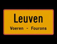Gemeentegrensbord met ondertekst België - zelf ontwerpen