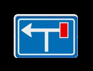 Verkeersbord RVV L09-1rt- Doodlopende weg - voorwaarschuwing