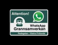 WhatsApp - Sweden - Attention! Grannsamverkan - L209wa-g