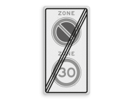 Verkeersbord RVV A0130E01ze - ZONE bord einde