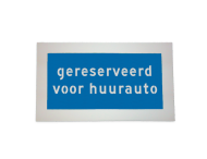 Markering gereserveerd voor huurauto - wegenverf