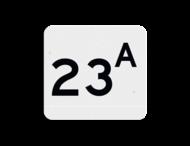 Huisnummerbord vlak NEN1772 119x109mm - reflecterend klasse 3