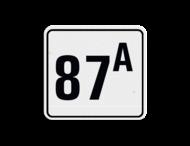 Huisnummerbord reflecterend 119x109mm