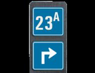Huisnummerpaal met BORD Modern met pijl