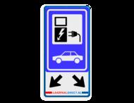Verkeersbord RVV E08o - oplaadpunt + pijlen - LAADDIRECT.NL - BE04b