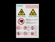 Veiligheidspaneel - ATTENTION - PBM pictogrammen