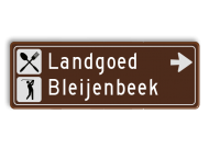 Verwijsbord Prov. Limburg 1000x350mm toeristisch