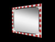 Verkeersspiegel acryl - 1000x800mm - met opvallend rood/wit kader