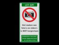 Verkeersbord C01-camera + tekstvlak + pictogram