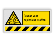 Waarschuwingsbord W002 - Explosiegevaar met vaste tekst