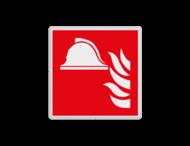 Brand bord F004 - Brandbestrijdingsmiddelen met tekst