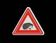 Informatiebord overstekende egels