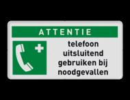 Reddingsbord E004 - Noodtelefoon + eigen tekst