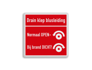 Brand bord overig - Drainklep-Blusleiding