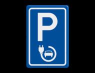 Verkeersbord elektrische auto - België