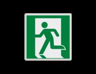 Vluchtroute bordje E001 - Nooduitgang links