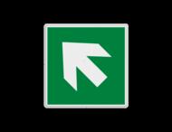 Vluchtroute bordje E006 - trap op richting reddingsmiddel