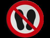 Pictogram P024 - Verboden op te staan