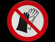 Pictogram P028 - Verboden handschoenen te dragen