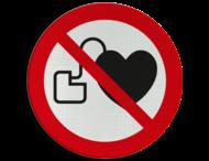 Pictogram P007 - Geen toegang voor personen met pacemaker
