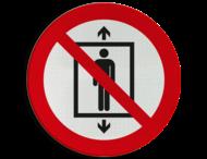 Pictogram P027 - Lift voor personen verboden