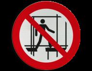 Pictogram P025 - Gebruik geen onafgewerkte steiger