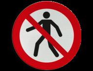 Pictogram P004 - Verboden voor voetgangers