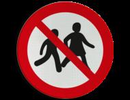 Pictogram P036 - Verboden voor kinderen