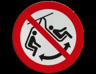 Pictogram P038 - Niet schommelen met stoeltje
