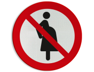 Pictogram P042 - Verboden voor zwangere vrouwen