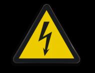 Pictogram W012 - Gevaar voor elektrische spanning