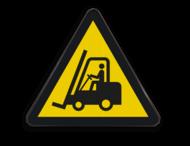 Waarschuwingsbord W014 - Gevaar voor vorkheftrucks en andere industriële voertuigen