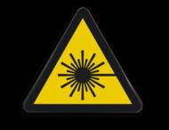 Pictogram W004 - Gevaar voor laserstraal